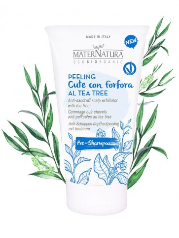 Peeling cute con forfora alla bardana al Tea Tree